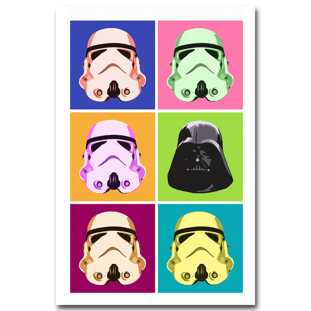 Stormtrooper Darth Vader Star Wars 7 Art Silk Poster Print 13×20 32×48 inch Movie Picture Home Wall Decor 154