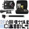 H9 H9R ir Câmera de Ação Ultra HD 4 K WiFi 1080 P esporte Go 2.0 LCD pro Câmera À Prova D' Água + Saco de Transporte monopé