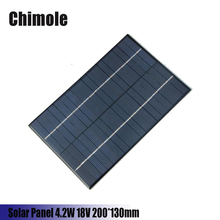 Chimole 4.2W 18V DIY Solar Cell Polycrystalline PET + EVA Laminated Mini Solar Panel 200*130mm for Solar System Solar Lamp