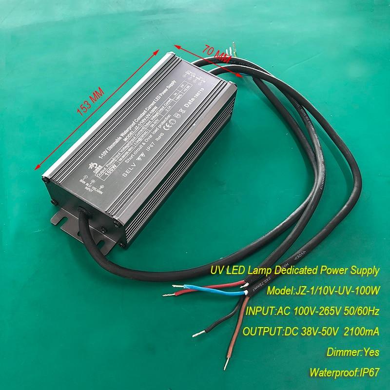 2.1A 100W IP67 waterproof Constant current source for UV LED module gel curing lamps INPUT AC 100V-265V OUTPUT DC 38V-50V 2100mA2.1A 100W IP67 waterproof Constant current source for UV LED module gel curing lamps INPUT AC 100V-265V OUTPUT DC 38V-50V 2100mA