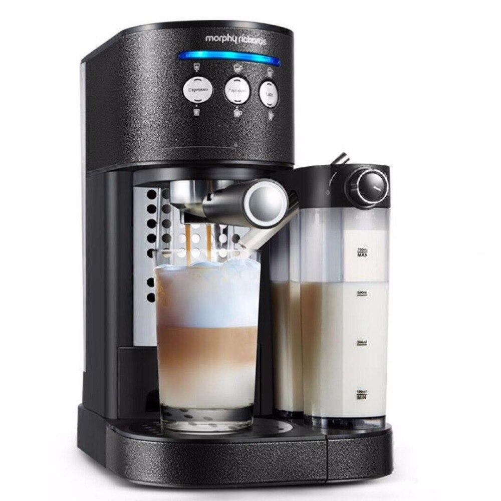 Cafetière automatique 15 bars Morphy Richards MR7008T cafetière fantaisie mousse Machine cappuccino/latte fabricant livraison gratuite