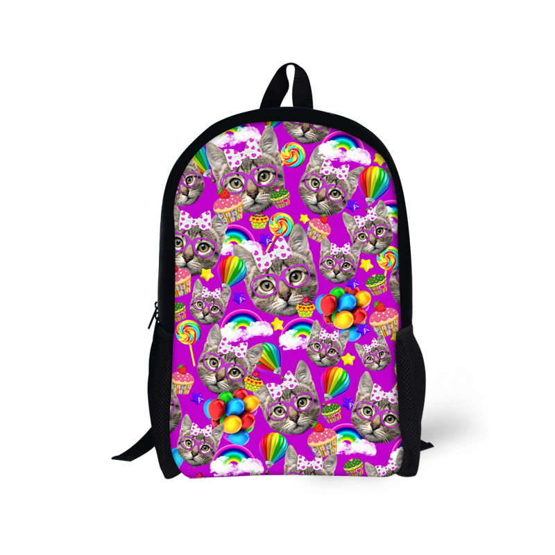 4c40bb7797f0 Kawaii Kitty Cat Panda Backpack for School Girls Cute 16 inch Children  Backpack High Quality Student Bookbag Mochila Kids