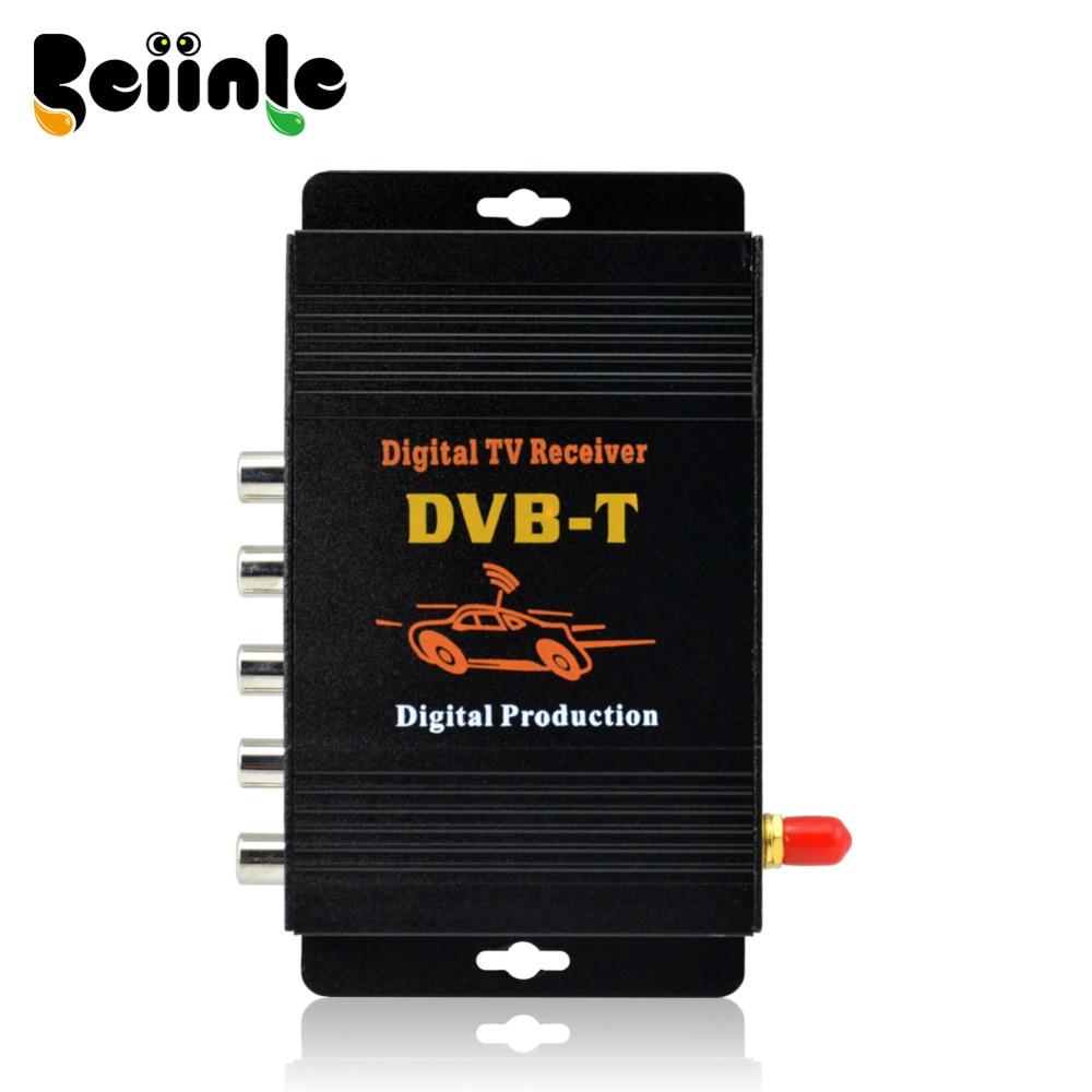 Car Four Tuner Way Single Antenna DVB-T(MPEG-4) External Digital mobile TV receiver