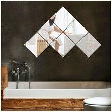 Acrylic bathroom three-dimensional Square wall stickers monolithic decorative mirror 3D bedroom living room mirror wall stickers dinosaur 3d new creative decorative three dimensional wall stickers
