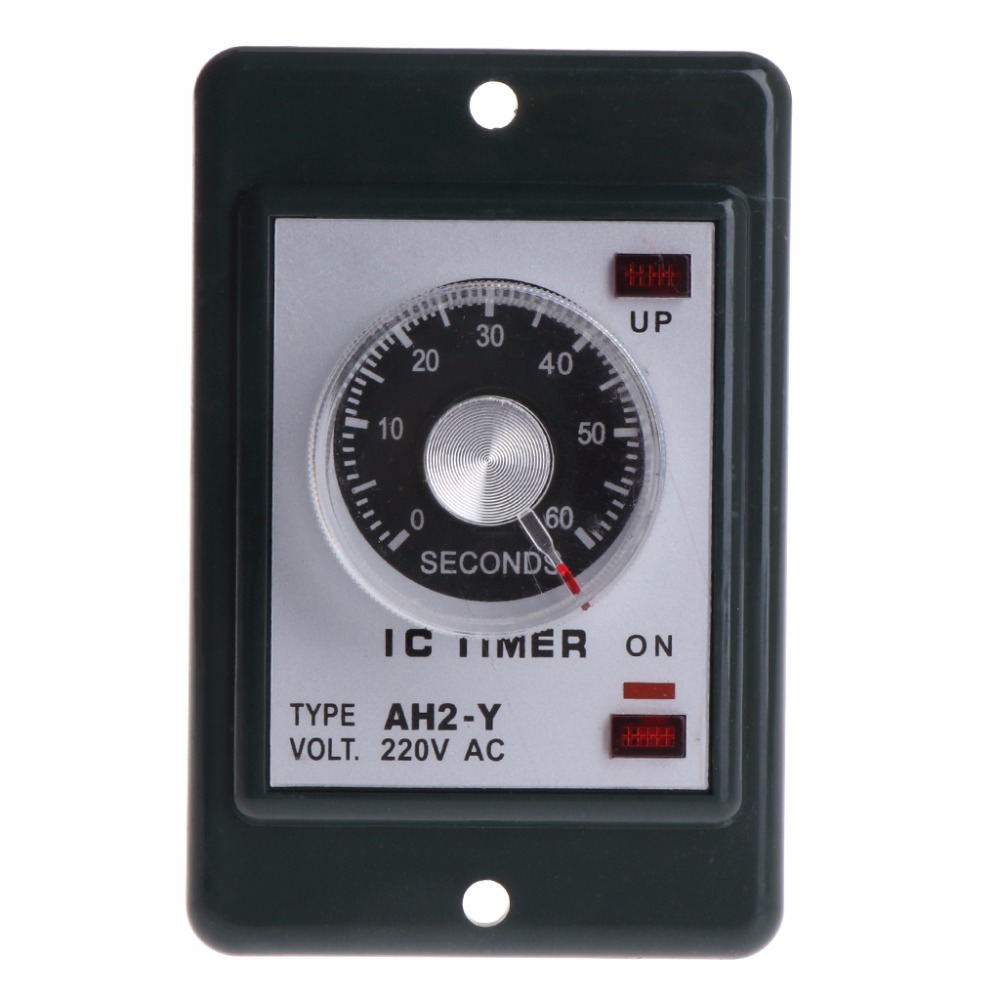 0 60 seconds minutes Power On Delay Timer Relay With Socket Base AC 220V AH2 Y Time Switch in Timers from Tools