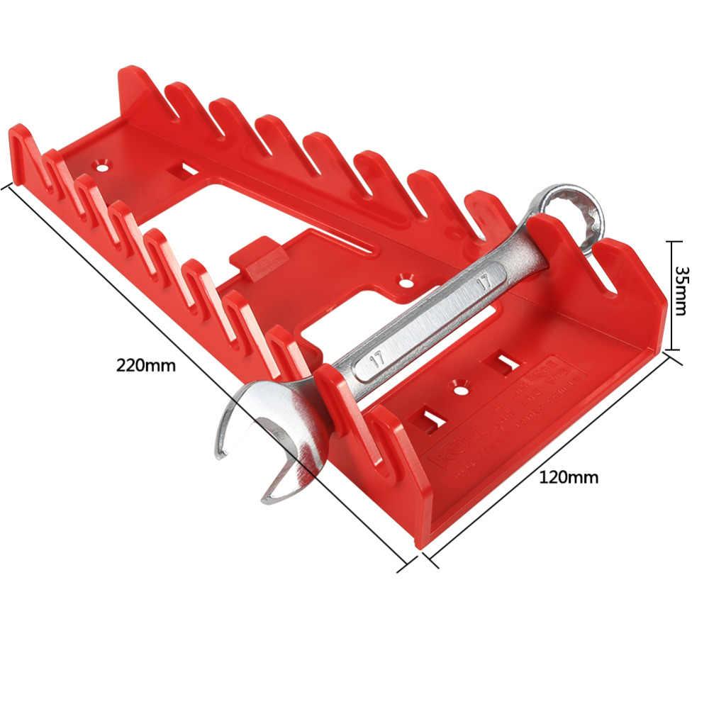 1 piezas 9 ranura llave titular de plástico rojo llave Rack estándar organizador de almacenamiento de herramienta llaves guardián
