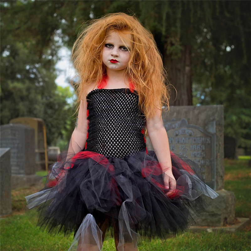 Moeble 2017 Baby Witch Costume Halloween Girl Tutu Dress Kids Fancy Clothing for Party Handmade Children Tulle Tutu Dresses children girl tutu dress super hero girl halloween costume kids summer tutu dress party photography girl clothing