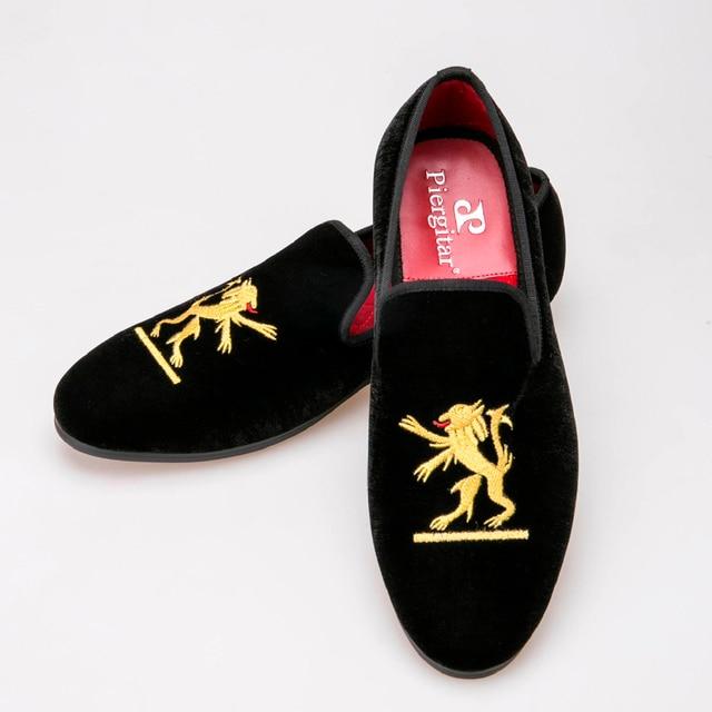 Lion embroidery Velvet Men shoes Men Plus Size Loafers Men wedding Shoe Men  Flats Size US 5-14 Free shipping 2ca883528fe7