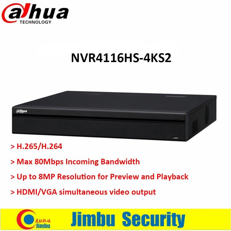 dahua p2p 4k nvr 4ch 8ch 16ch video recorder nvr4104hs 4ks2 nvr4108hs 4ks2 nvr4116hs 4ks2 h 265 8mp resolution Dahua NVR 16Ch NVR4116HS-4KS2 1U 4K&H.265 Lite Network Video Recorder H.265/H.264 Up to 8MP HDMI/VGA simultaneous output