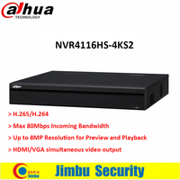 Dahua NVR 채널 NVR4116HS-4KS2 1U 4 천개 & H.265 라이트 네트워크 비디오 레코더 H.265/H.264 최대 8MP HDMI/VGA 동시 출력