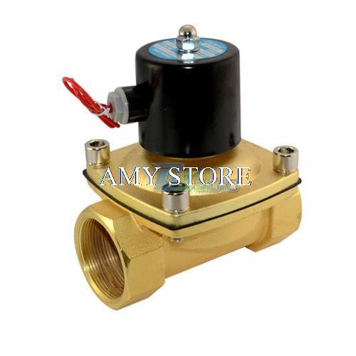 2W500-50 Solenoid Valve BSP 2 DC12V DC24V 24VAC AC110V AC220V AC380V Direct Water Air Oil Gas Normally Closed Electric 2W time electric valve ac110v 230 3 4 bsp npt for garden irrigation drain water air pump water automatic control systems