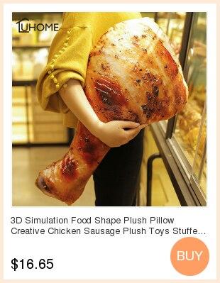 HTB1q6pmIeuSBuNjSsziq6zq8pXay 3D Simulation Food Shape Plush Pillow Creative Chicken Sausage Plush Toys Stuffed Sofa Cushion Home Decor Funny Gifts for Kids