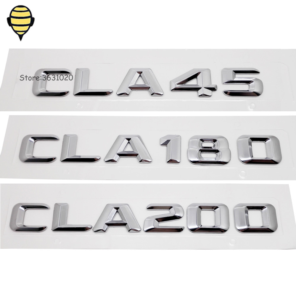Car Exterior Accessories Metal Car Rear Sticker Emblem Decal Badge For Mercedes Benz For CLA Class CLA45 CLA180 CLA200 W204 W221 auto chrome camaro letters for 1968 1969 camaro emblem badge sticker