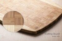 Marca de alta qualidade cortar blocos de madeira placa de madeira placa de corte ecológico retângulo cozinha casa de café da manhã pão grande