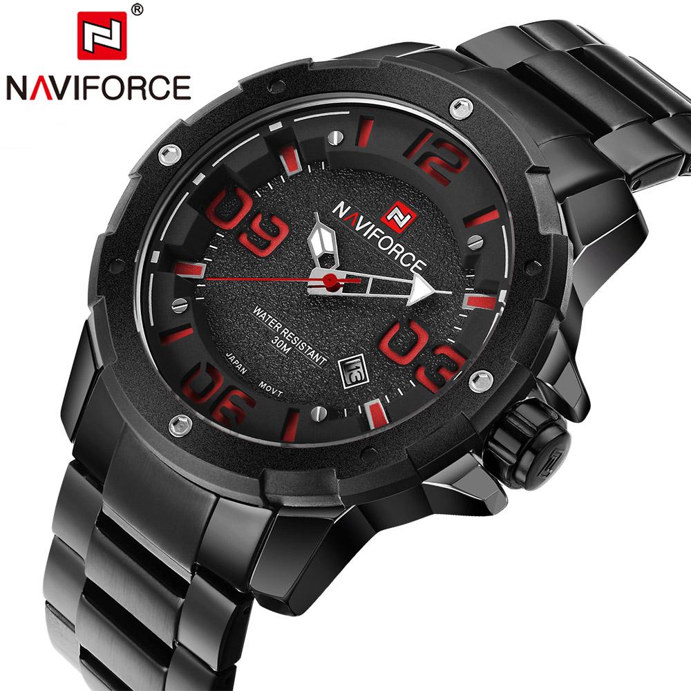 Prix pour NAVIFORCE Hommes Marque De Luxe En Acier Plein Armée Militaire Montres Hommes de Quartz Heure Horloge Montre Sport Montre-Bracelet relogio masculino