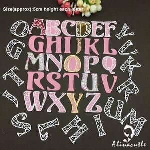 Image 4 - Металлическая высечка, алфавит 5 см, английская надпись, скрапбук, бумага ручной работы, карта happy mail, художественный резак alinacraft