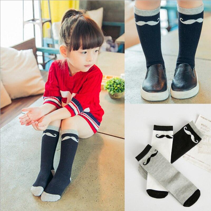 1 Pair Cute Baby Cotton Printed Socks Infant Cat Anti-slip Soft Knee Slipper Panda/Cat/Flag/Totoro Socks Wholesale girls socks