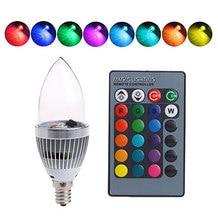 Smart E14/E12 3W RGB LED Light Bulb Color Changing Candle Lamp Bulb+Remote Control Home Wireless Led Set