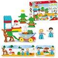 Новый Рождественский домик  46 шт.  сделай сам  большие строительные блоки  игрушки для детей  девочек  подарки на новый год  совместимы с ...