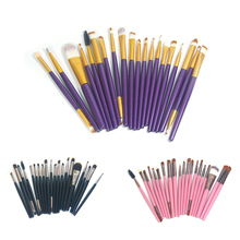 Professional 20Pcs Makeup Brushes Set Pro Powder Blush Foundation Eyeshadow Eyeliner Lip Gold Cosmetic Brush Kit Beauty Tools