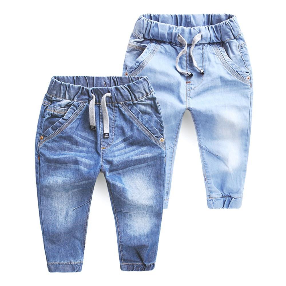 7458ad879 Vaqueros de los muchachos primavera otoño niñas niños Jeans ropa de bebé Casual  Denim Niña infantil pantalones de Niño Pantalones de los niños pantalones  ...