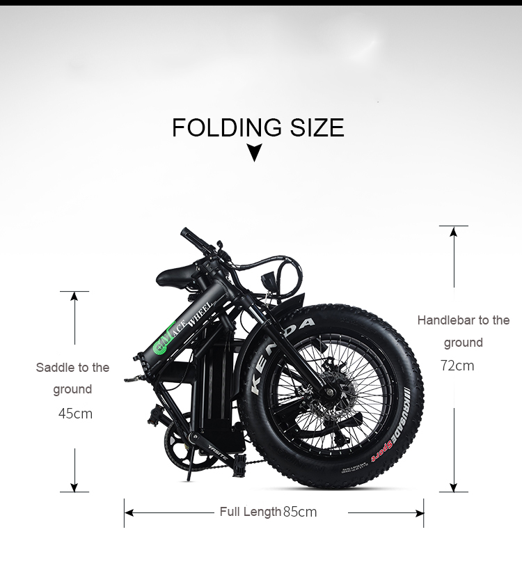 HTB1q6qXadfvK1RjSspoq6zfNpXaD - 20inch electric mountian bicycle 48V 15ah lithium battery 500w rear wheel motor max speed 40km/h range 50-60km snow fat