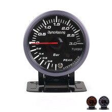 Dynoracing 60 мм черный Автомобильный турбо Boost gauge 3 бар с белым и янтарным освещением турбо boost meter автомобильный измеритель TT101477