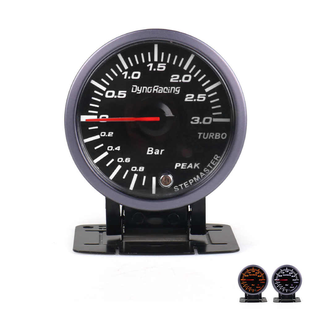 CNSPEED 60MM Black Face Car Turbo Boost gauge 3 BAR With White &Amber Lighting turbo boost meter Auto gauge/Car Meter TT101246