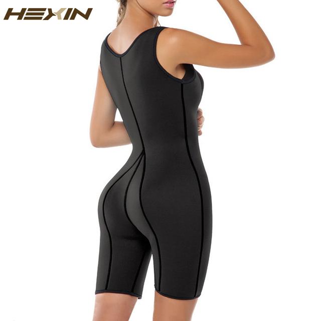HEXIN Mujeres Ultra Sudor Térmica Traje de Neopreno Compresión Entrenamiento Chaleco Shapewear Shaper de Cuerpo Completo con Control de Abdomen