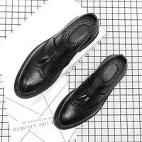 Leather shoes men leather designer elegant social dress man shoes #MSW8108145