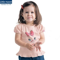 Wholesale Little Maven 6PCS Children T Shirts Pink 1 6Years Baby Boys Girls Clothes Short Sleeve