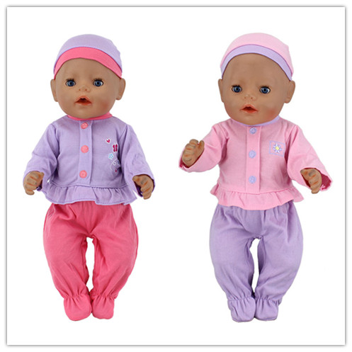 Fashion2Color Choose set clothes+hat Wear fit 43cm Baby Born zapf,Children best  Birthday Gift(only sell clothes) red hat t shirt rompers doll clothes wear fit 18 inch american girl 43cm baby born zapf children best birthday gift n289