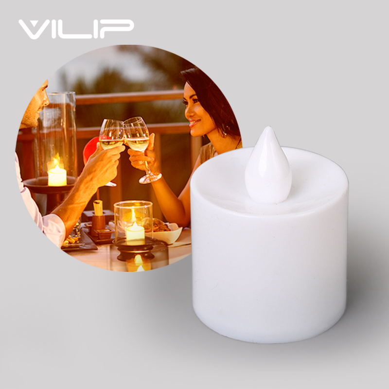 24 PCS Flameless Smokeless Unscented LED Tea Light Candle Realistic Flickering Votive Tealight Candle Party Wedding Home Decor T