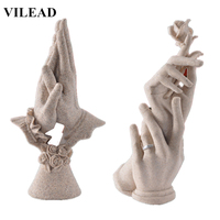 VILEAD Wedding Anniversary Souvenirs Hand in Hand Figurines Wedding Engagement DIY Decoration Creative Gifts for Wife Girlfriend