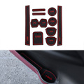 11Pcs/Set Car Styling Slot Pad Interior Door Groove Mat Latex Anti-Slip Cushion For Nissan NV200 2010-2014Car Internal Dedicated