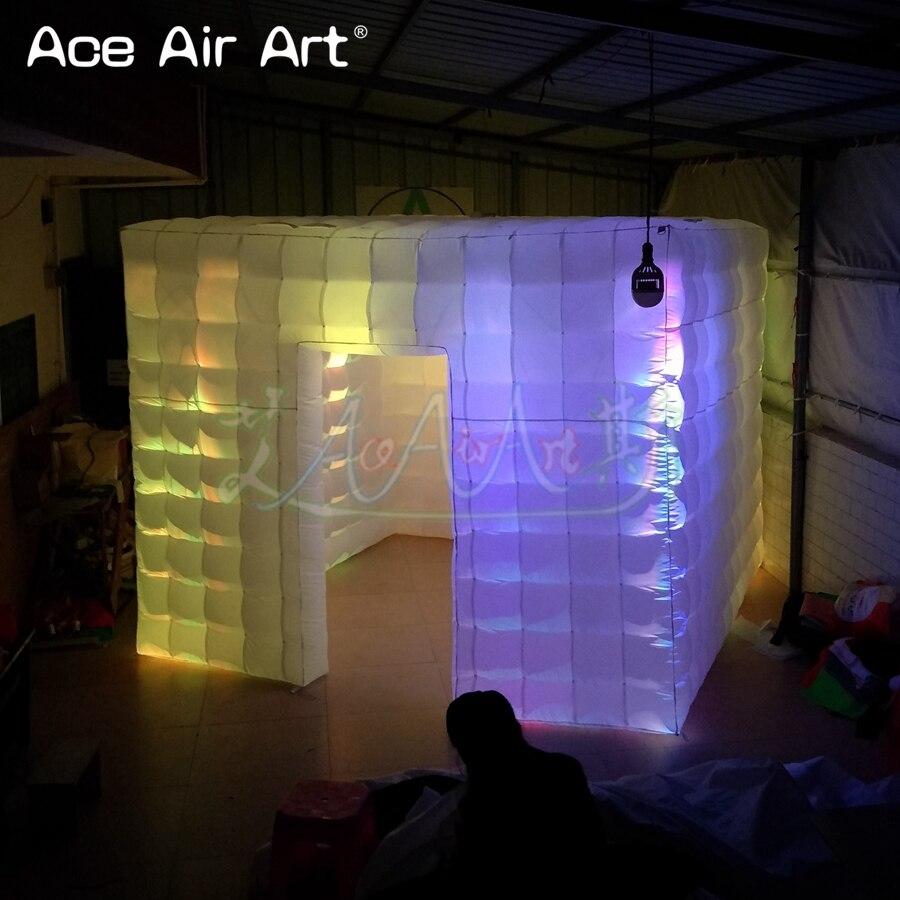 Cabine de photo gonflable de tente cubique de 3x3x2.5 m, plus grande armoire de fond de photo avec la légèreté pour plus de personne prenant des photos