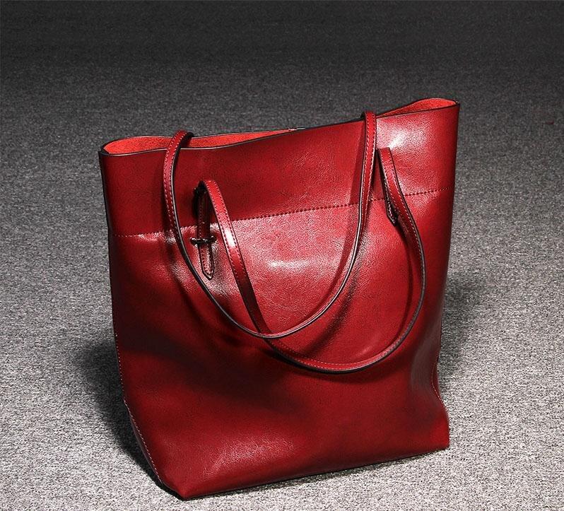 купить 2015 New Arrival women handbags Barrel-shaped Genuine leather Shoulder bag cow messenger bags women bags по цене 13327.51 рублей