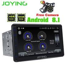Радуясь 2 DIN Автомобильный мультимедийный плеер Android 8,1 gps навигации TDA7851 Бесплатная заднего вида Камера Универсальная головка блока 8 дюймов ДПС