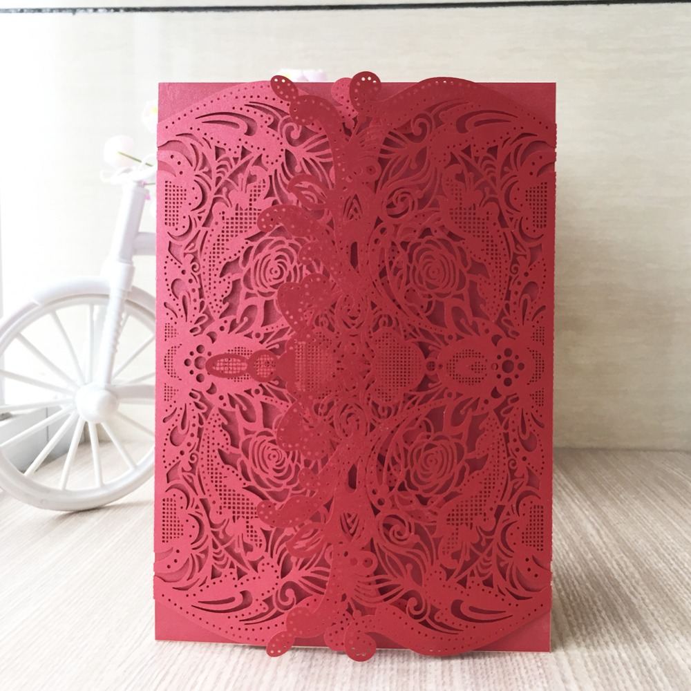 30pcs/lot Wedding Invitation Card China Supplier Modern Design Vintage Pop  Up Wedding Invitation Cards