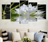HD Print 5 Pcs Canvas Art Flower Painting Modern Home Decor Wall Art Pictures Living Room