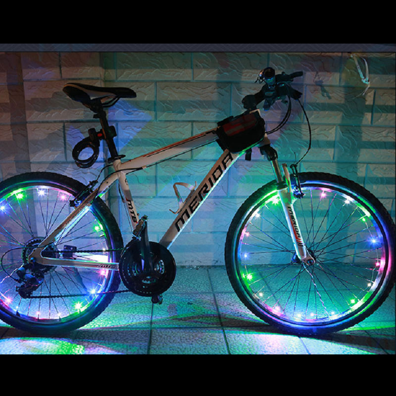 20 LED lights Motorcycle Cycling Bicycle Bike Wheel Signal Tire Spoke Light 30 Changes 3 Modes Bicycle Spoke Light Accessories