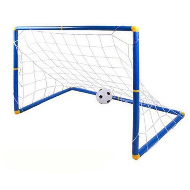 137dcbb10 Mini Children Football Soccer Goal Post Net Set Portable Kids Play Training  Goal Garden Pump Indoor