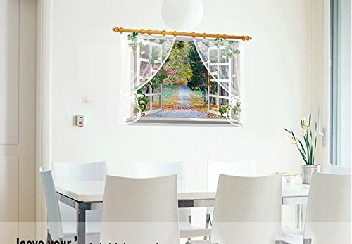 Scenery Fake Window Pattern Wall Sticker Children Bedroom Living Room Background Home Decor Removable Waterproof