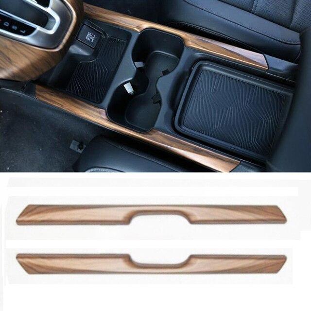 لهوندا CRV CR V 17 18 2 قطعة الخشب الحبوب كأس الماء حامل شريط غطاء الكسوة ملصق سيارة الديكور الداخلية اكسسوارات Mayitr