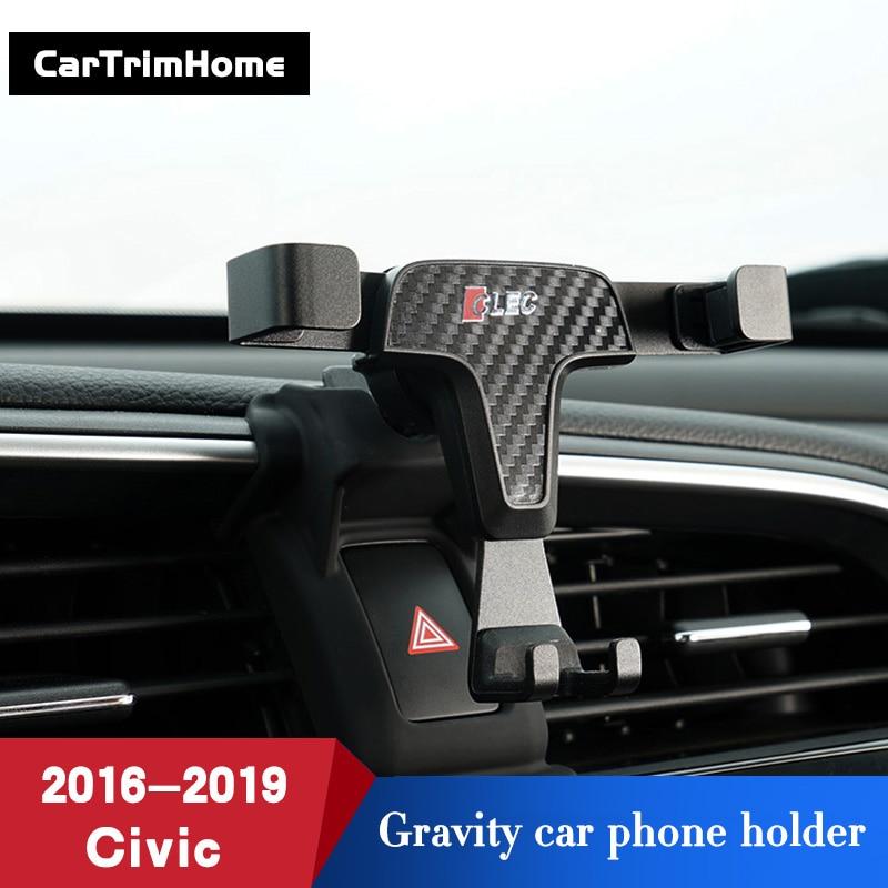 Black Car Air Vent Mount Adjustable Phone Holder Stand For Honda Civic 2016-2019