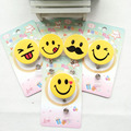 High Quality Large Size 5CM Smile Face Badge Clip ID Card Certificate Holder Plastic ABS Strap