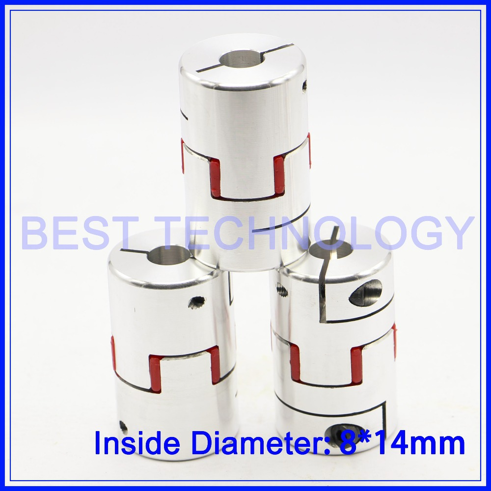 3pcs 8mm to 14mm Flexible Jaw Spider Plum Coupling CNC Starter Shaft Coupler Connector Diameter 40mm Length 66mm cnc plum shaft flexible jaw spider coupler 12mm 14mm motor coupling 12mm to 14mm dia 30mm length 35mm