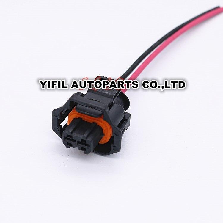 imágenes para 10 unids/lote 2 pin/manera femenina diesel common rail inyector enchufe eléctrico conector con cable flexible para bosch