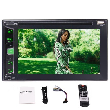 EinCar In Dash Double Din 6.2 inch Car DVD Player supports USB/SD MP3 MP4 Video Music Playing Bluetooth Handsfree Muisc Stream