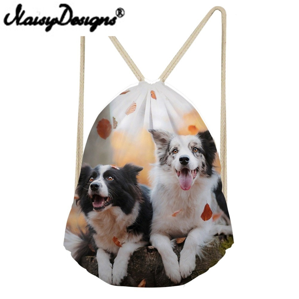 Noisydesigns 3D Animals Shepherd Dog/Lops Printing Drawstring Backpack Cute School Bags For Girls Women's Day Pack Mochila 2018